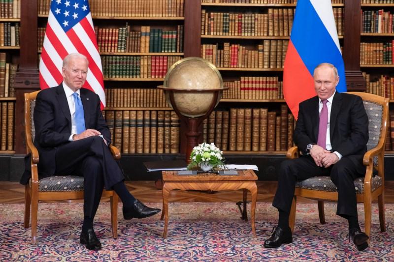U.S. President Joe Biden meets Russian President Vladimir Putin.