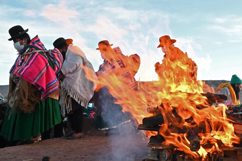 Aymara Indigenous people celebrate new year in Bolivia
