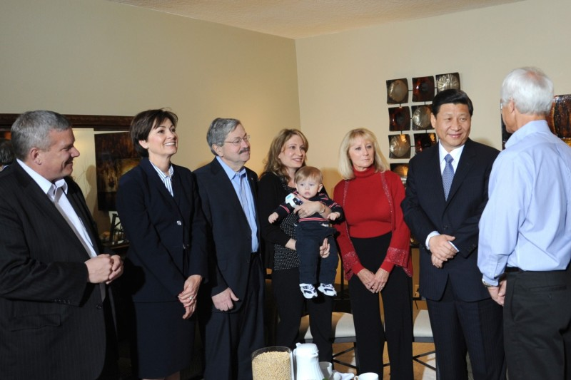 Then-Chinese Vice President Xi Jinping visits Iowa state leaders and residents.