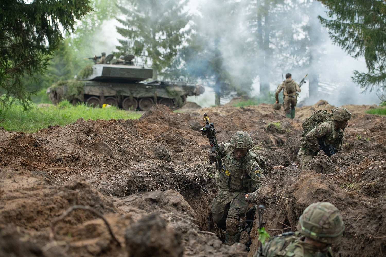 Estonian defense forces and troops from other NATO countries take part in a large-scale military exercise in the Baltic region.