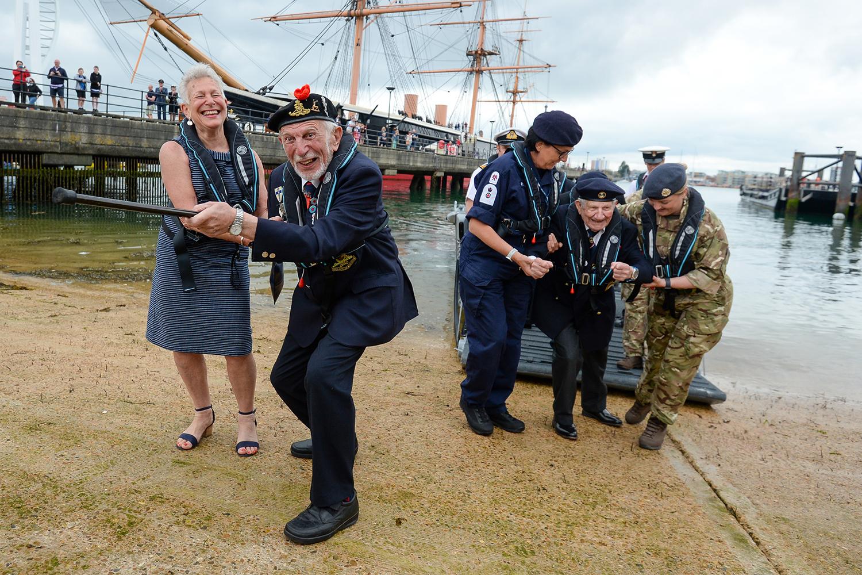 D-Day veterans mark anniversary in England