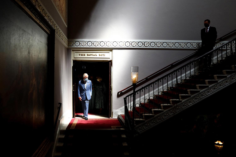 Prince Charles visits the Theatre Royal Drury Lane