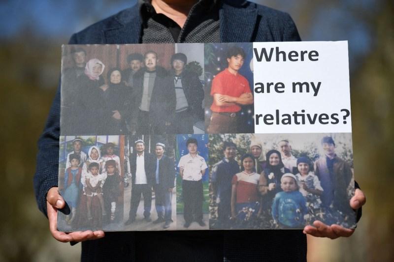 Uyghurs demonstrate in London.