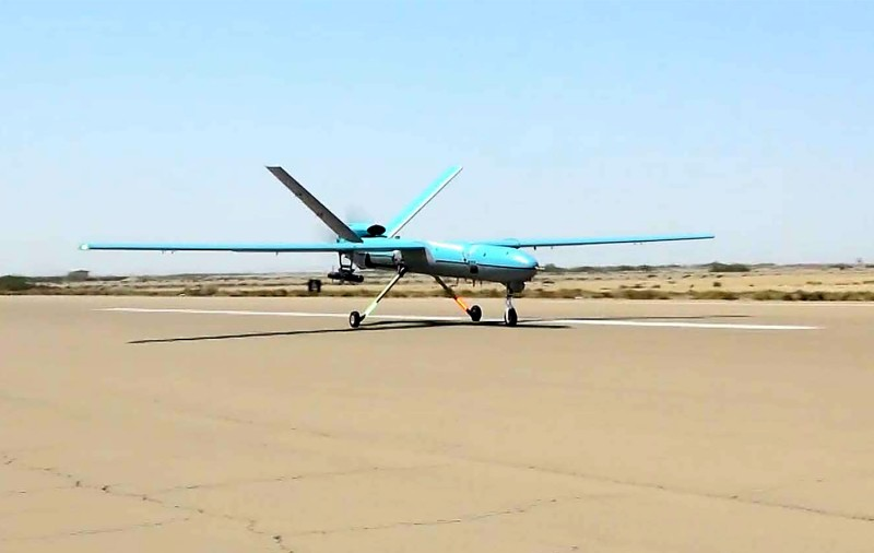 A handout picture provided by the Iranian Army's official website on September 11, 2020, shows an Iranian Simorgh drone during the second day of a military exercise in the Gulf, near the strategic strait of Hormuz in southern Iran.