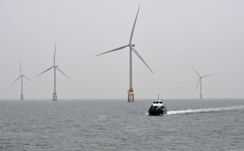 An offshore wind farm off South Korea