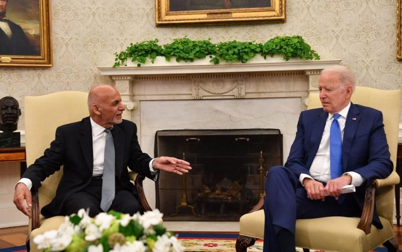Afghan President Ashraf Ghani meets with U.S. President Joe Biden