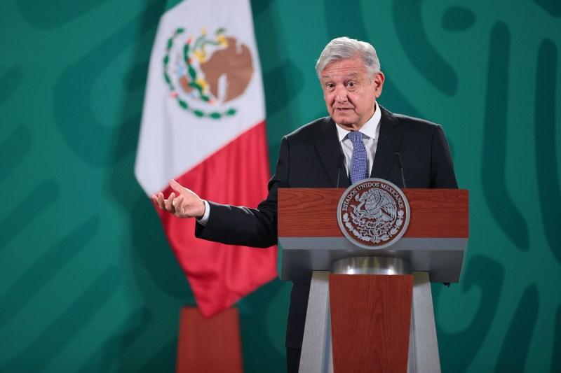 Mexican President Andrés Manuel López Obrador speaks.