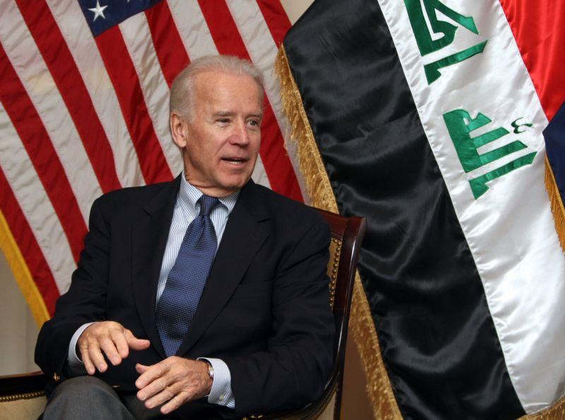 Joe Biden at the U.S. embassy on Nov. 29, 2011 in Baghdad.