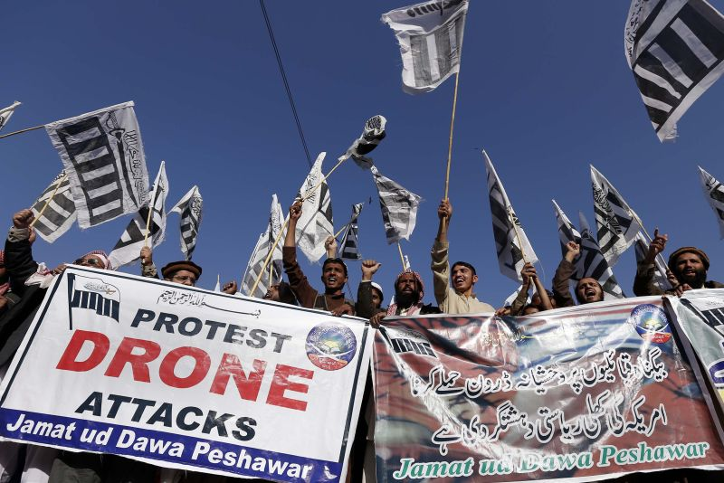 An anti-drone protest in Pakistan