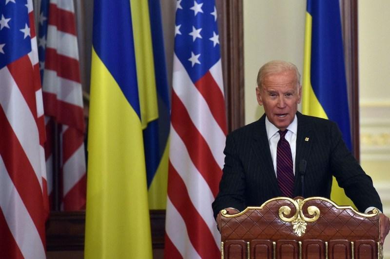 Then-U.S. Vice President Joe Biden in Ukraine.