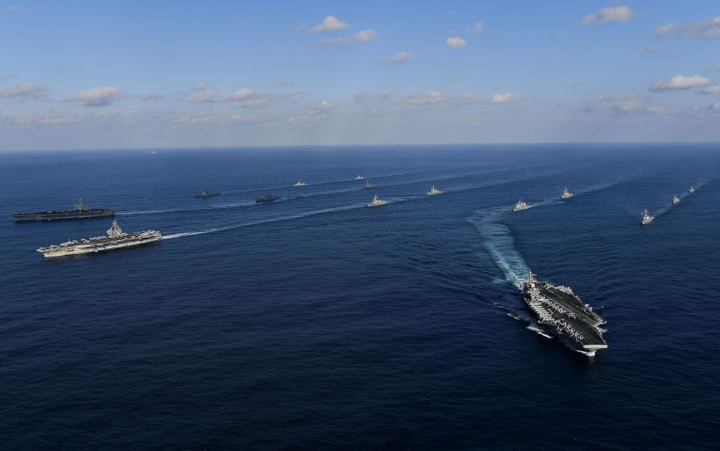 U.S. carriers conduct a joint operation with South Korea