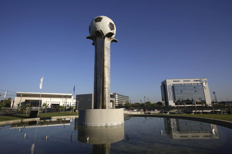 Sede de la CONMEBOL, organización de fútbol sudamericano, en Asunción, Paraguay, el 31 de mayo de 2021.