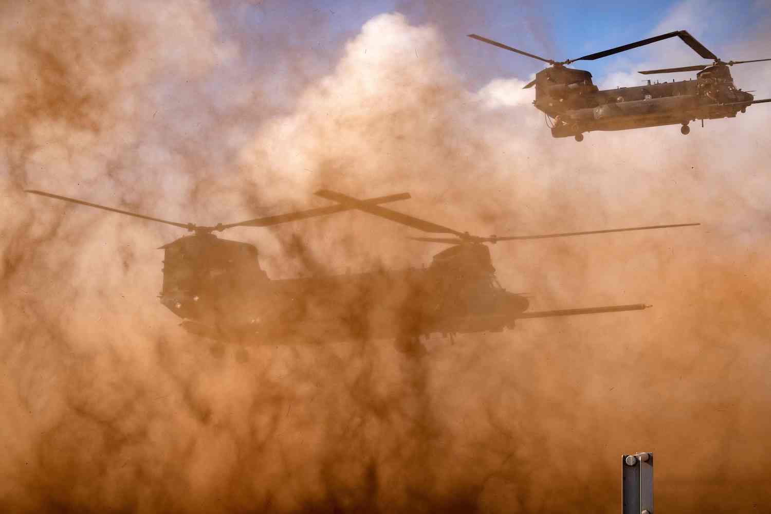 """The """"African Lion"""" joint military exercise near Tifnit, Morocco."""