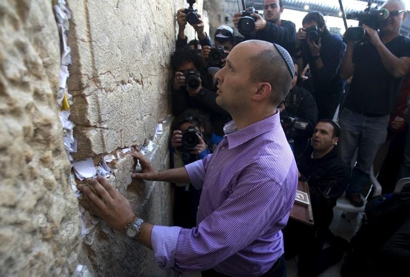 Naftali Bennett visits the Western Wall
