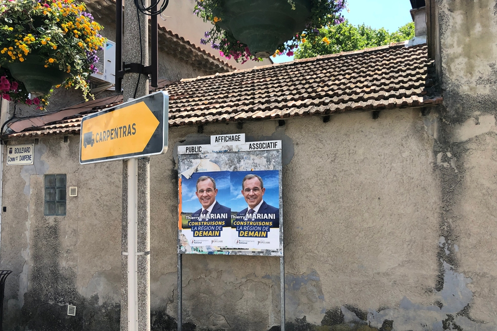 National Rally campaign posters