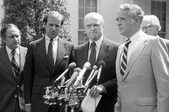 Joe Biden and other senators in 1980