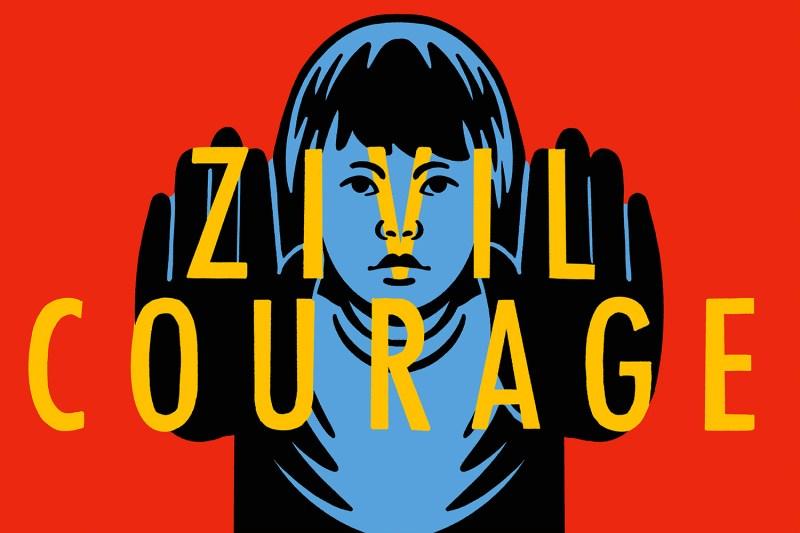 Zivil Courage Illustration of words