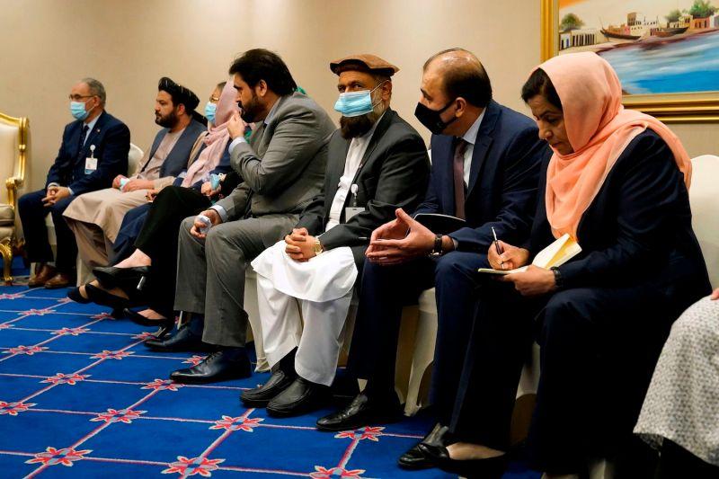 Members of Afghanistan's peace negotiation team