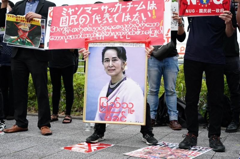 Myanmar protesters in Japan