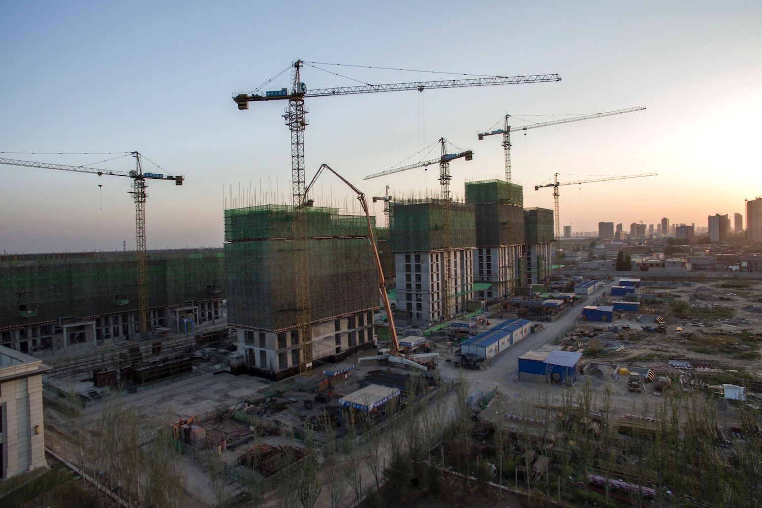 A construction site is pictured in Baoding, China, on April 25, 2017.