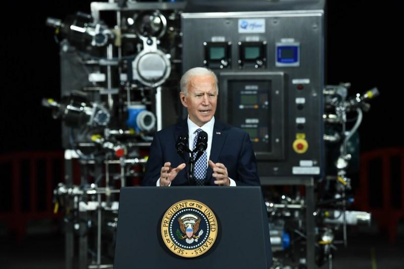 Biden tours Pfizer manufacturing plant