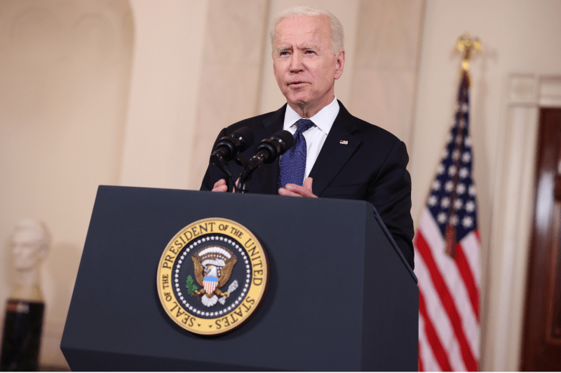 Biden delivers remarks on the Israeli-Palestinian conflict.