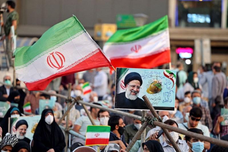 An election rally for Ebrahim Raisi