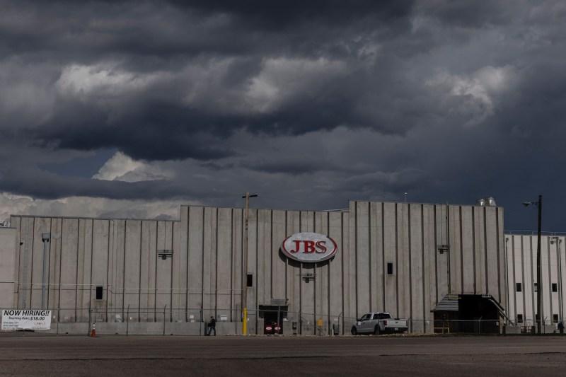 A JBS processing plant is dormant.