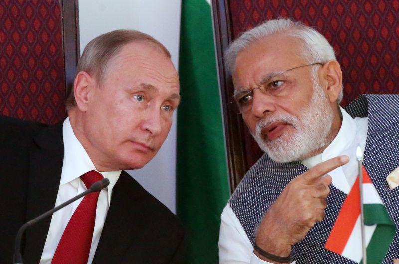 Putin and Modi at the 2016 BRICS summit