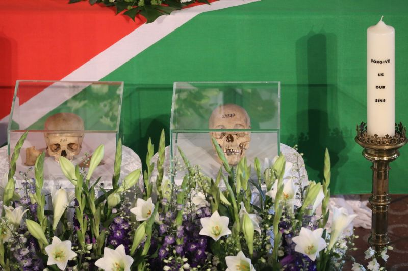 Namibian skulls from the German Empire's genocide are repatriated.