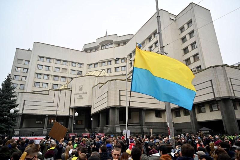 Anti-corruption activists in Kyiv.