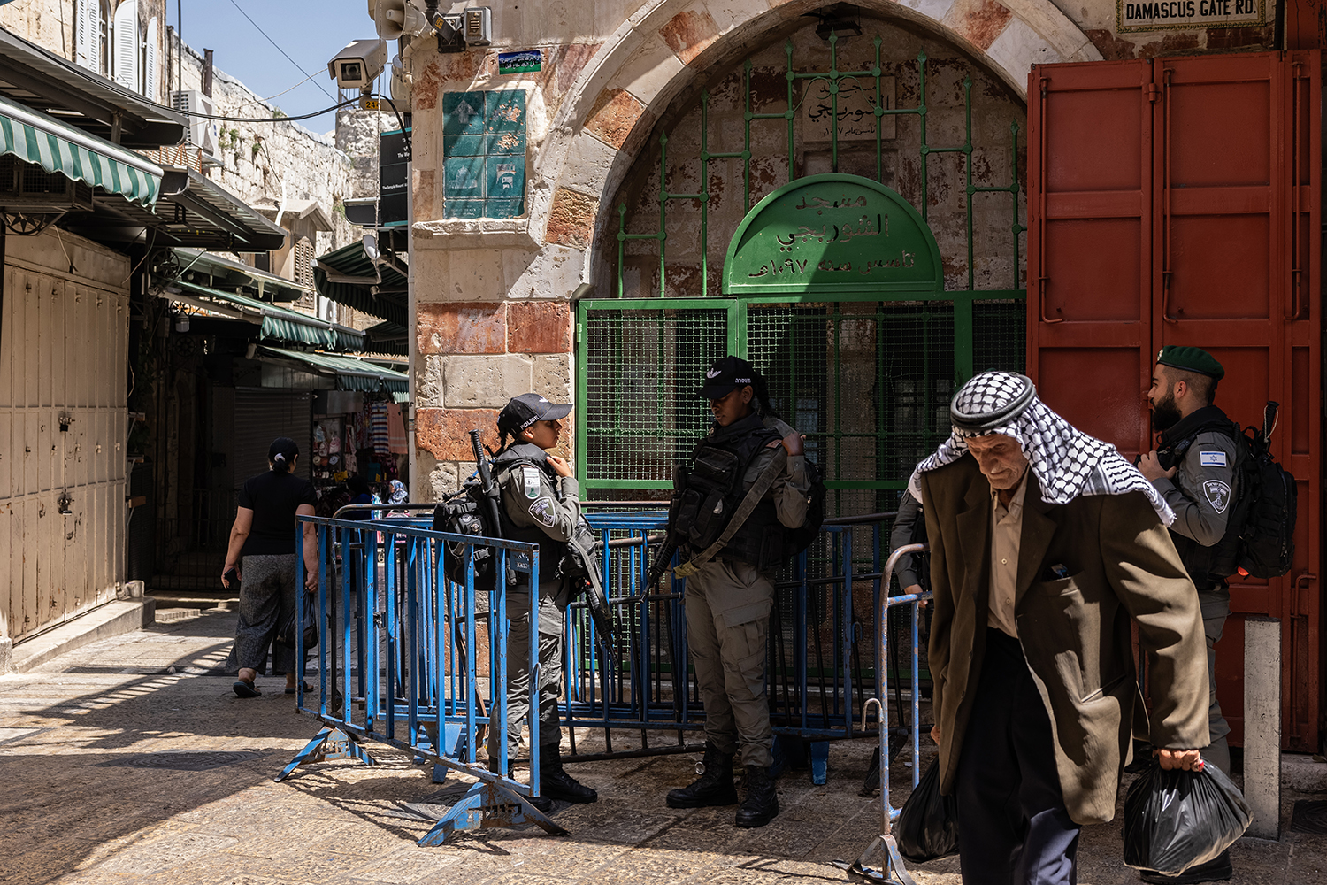 A scene in the Old City in Jerusalem on June 15. The eastern part of the city is mostly home to Palestinians, though some have been evicted from their houses.