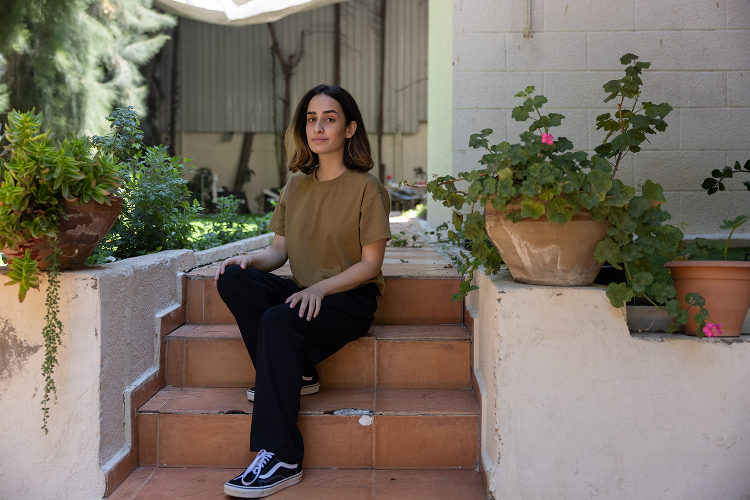 Salma Shawa, 24, photographed on June 24, is advocating for Palestinians using social media.