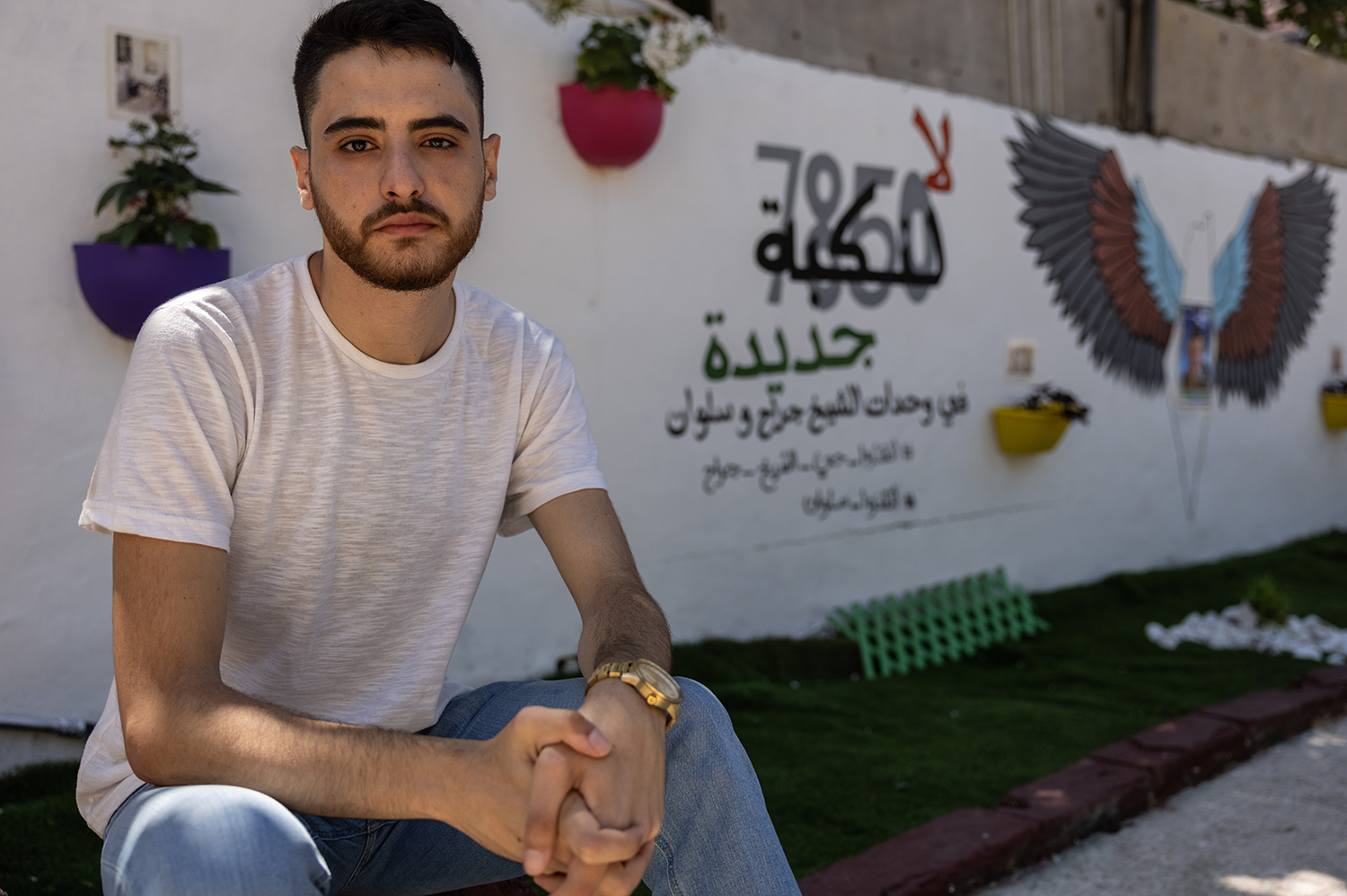 Mohammed El-Kurd, photographed on July 4, is a 23-year-old creative writing student who grew up in occupied East Jerusalem.