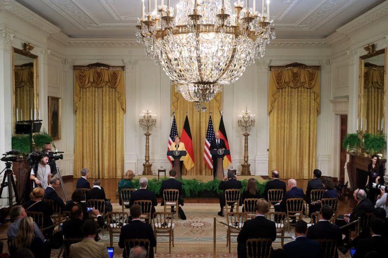 German Chancellor Angela Merkel and U.S. President Joe Biden