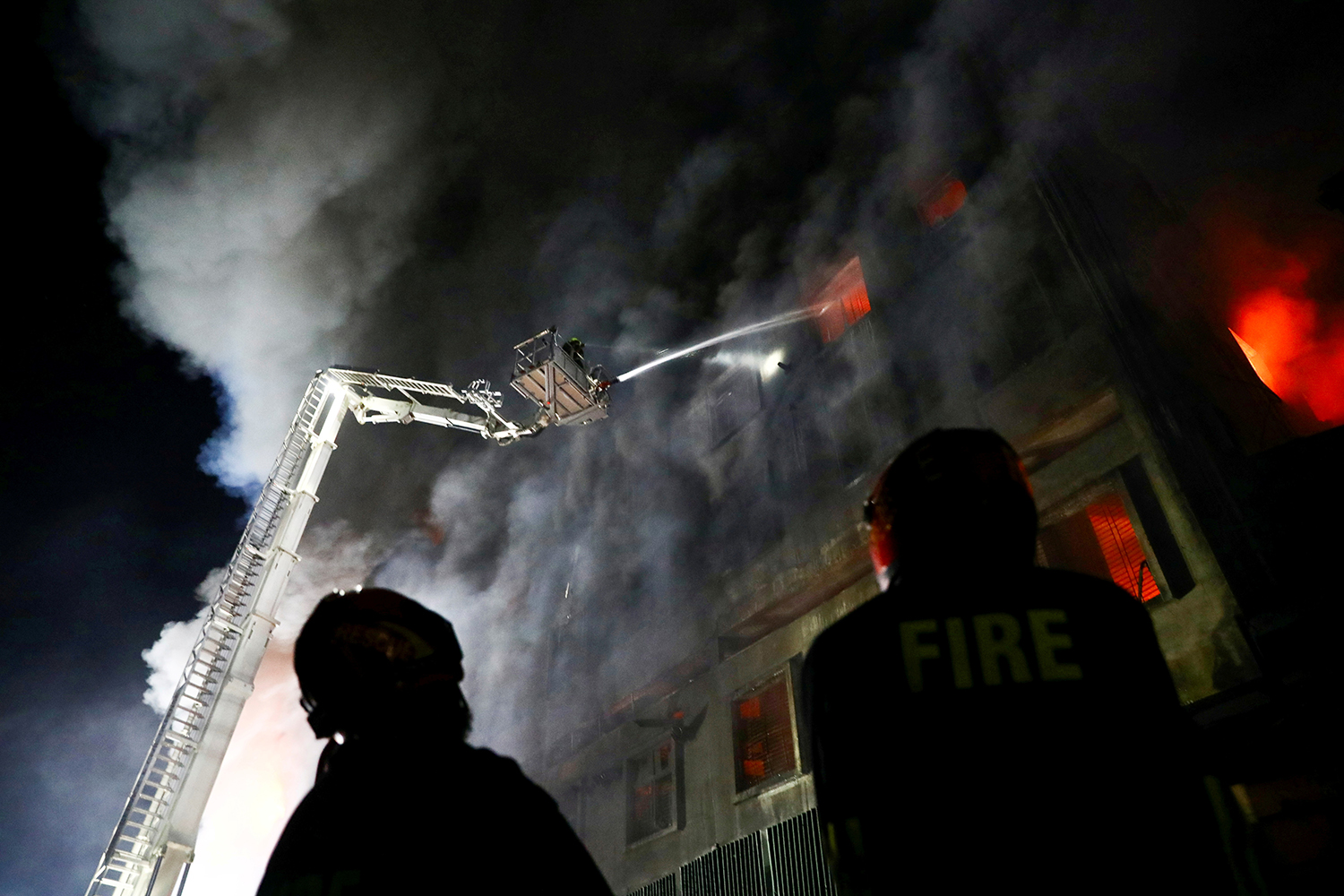 Fire at a factory in Dhaka