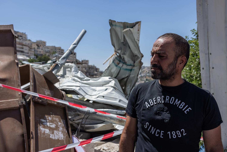 Nidal Rajabi, the owner of the destroyed bulding, on June 29.