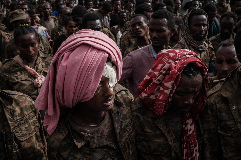 Captive Ethiopian soldiers