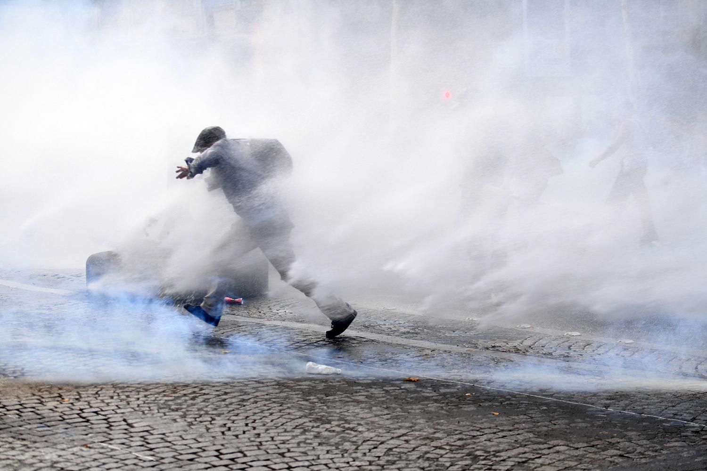 Protest in France over COVID precautions
