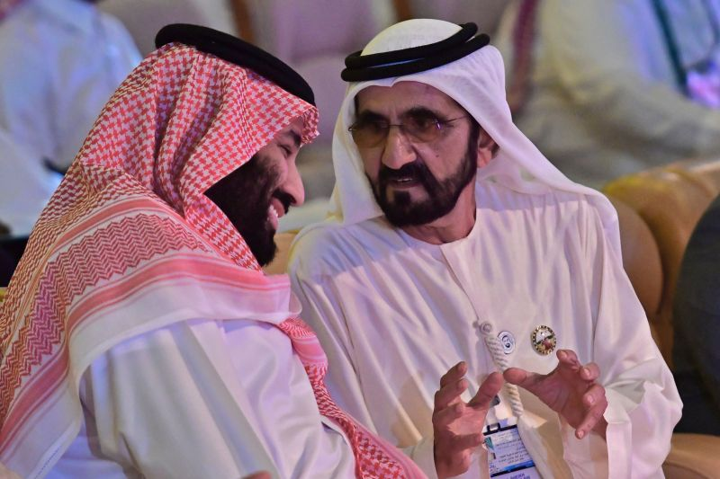 The Saudi crown prince meets with the UAE prime minister.