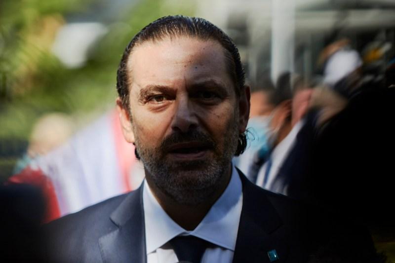 Saad Hariri outside the Lebanon Tribunal on August 18, 2020 in The Hague, Netherlands.