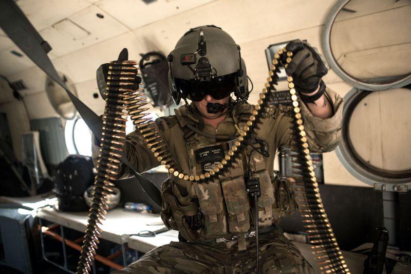 A U.S. Army advisor for the Afghan Air Force
