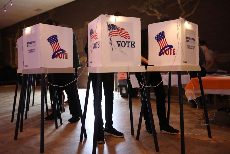 U.S. voters cast their ballots.