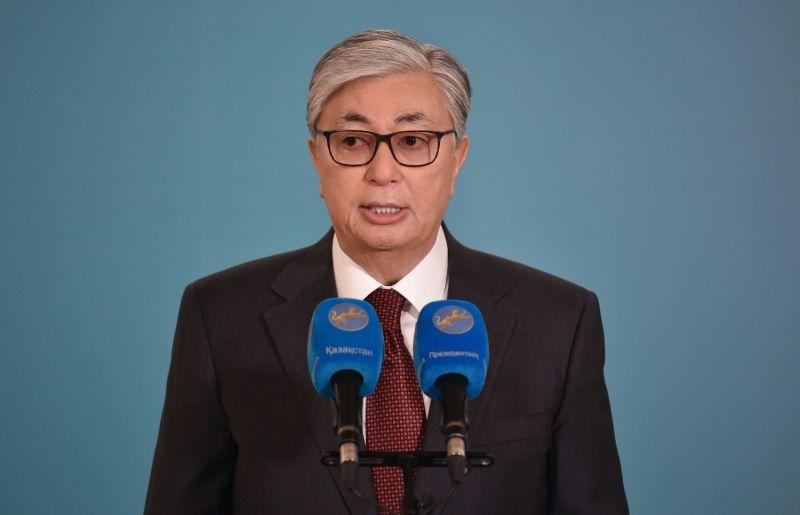Kazakh President Kassym-Jomart Tokayev