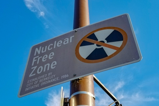 Sign that says Nuclear-Free Zone