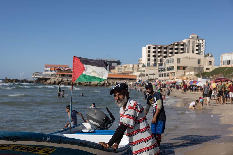 People on Gaza Beach