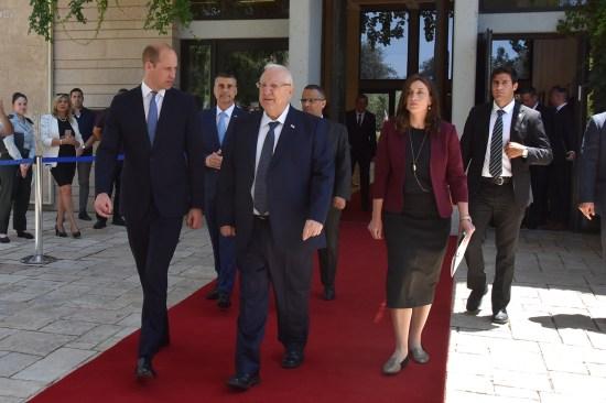 Prince William, Israeli President Reuven Rivlin, and Rivka Ravitz