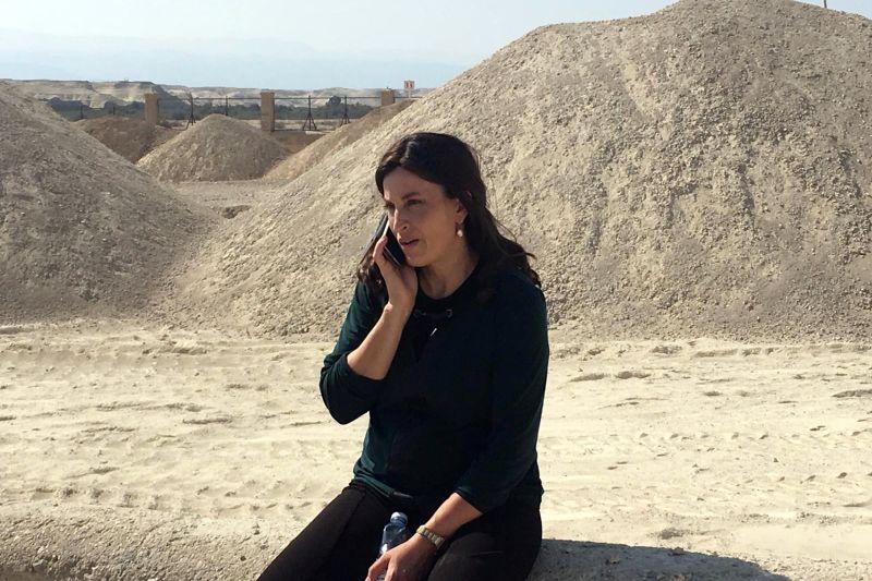 Rivka Ravitz visits Qasr al-Yahud