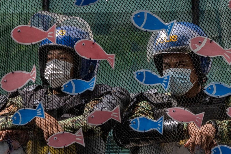 A protest against continued Chinese intrusions in Philippine waters