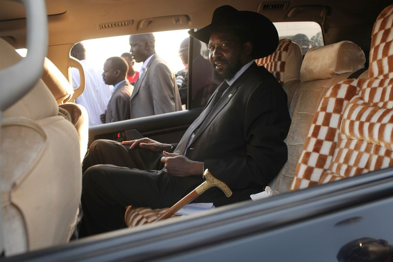 Salva Kiir, then-acting president of the government of Southern Sudan